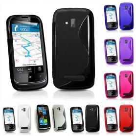 S Line -silikonikotelo Nokia Lumia 610 -puhelimelle