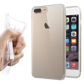 Apple iPhone 7 Plus / 8 Plus silikonikotelo, läpinäkyvä kannettava kuori