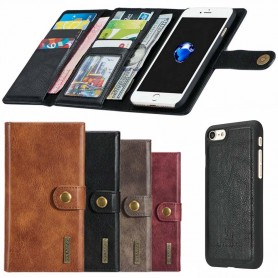 Multi Lompakko Tri- Fold 12 korttia iPhone 7/8 mobiili kotelo
