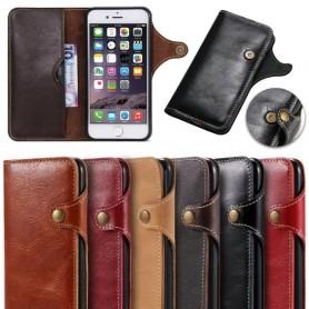 Retro Mobile lompakko nahka Apple iPhone 7 Plus / 8 Plus mobiili kuori