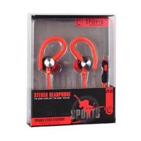 Sport kuulokemikrofoni - punainen