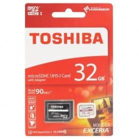 Toshiba 32Gb Micro SD luokan 10 sovittimella