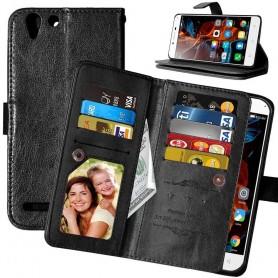 Mobiili lompakko Double Flip Flexi 8 -kortti Lenovo Vibe K5, K5 Plus