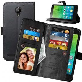 Mobiili lompakko Double Flip Flexi 8 -kortti Lenovo C2