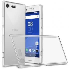 Clear Hard Case Sony Xperia XZ Premium (G8141) läpinäkyvä kantolaukku