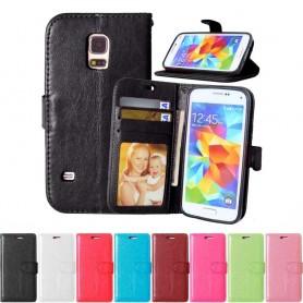 Kannettava lompakko 3-kortti Samsung Galaxy S5 Mini SM-G800F