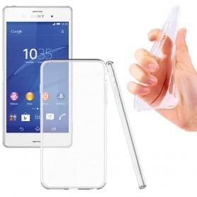 Sony Xperia Z3 TPU silikonikotelo läpinäkyvä