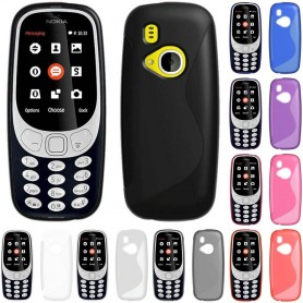 S Line -silikonikuori Nokia 3310 (2017) -lisävarusteet CaseOnline.se