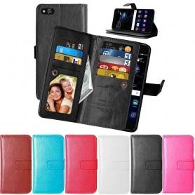 Kaksinkertainen läppä Flexi 9 -kortti Huawei P10 Lite -laukku, CaseOnline.se