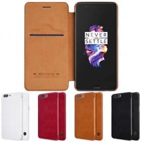 Nillkin Qin FlipCover OnePlus 5 matkapuhelinkotelo CaseOnline.se