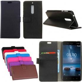 Kannettava lompakko 2 -kortti Nokia 8 -kotelon suojakuori Caseoonline