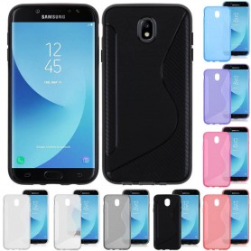 S Line -silikonikotelo Samsung Galaxy J5 2017 Sm-J530F -puhelinsuojalle CaseOnline.se
