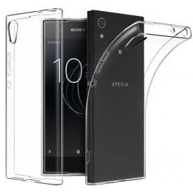 Sony Xperia L1 silikonikotelo - läpinäkyvä mobiilisuoja