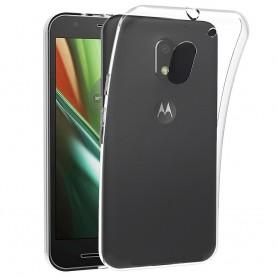 Motorola Moto E3 (3. sukupolvi) silikonikotelo, läpinäkyvä mobiilisuoja