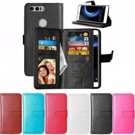 Kaksinkertainen läppä Flexi-matkalaukku 9 korttia Huawei Honor 8 CaseOnline