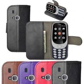Siirrettävä lompakko korttitaskulla Nokia 3310 (2017) silikonirunkoinen kansi