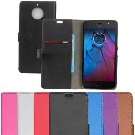 Kannettava lompakko 2-kortti Motorola Moto G5S kannettava silikonitarvike Caseonline-suojaus