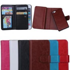 Kaksinkertainen läppä Magnet 2 in 1 iPhone 5, 5S -laukun kannettava lompakko