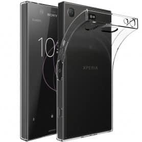 Sony Xperia XZ1 silikonikotelo, läpinäkyvä matkapuhelimen kansi