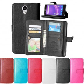 Double Flipi 9 -kortti ZTE Blade A510 matkapuhelinkotelo matkapuhelimen kotelo