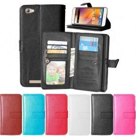 Kaksinkertainen läppä Flexi 9 -kortti ZTE Blade A610 matkapuhelinkotelo matkapuhelimen kotelo