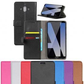 Kannettava lompakko 2-korttisilikonirunkoinen Huawei Mate 10 matkapuhelinlaukku
