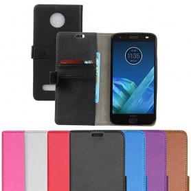 Kannettava lompakko 2-korttiinen Motorola Moto Z2 Force kannettavan suoja