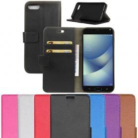 Siirrettävä lompakko 2-korttisilikonirunko Asus Zenfone 4 Max ZC554KL kannettava suojakotelo
