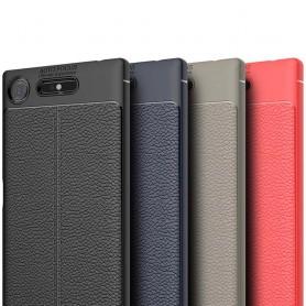 Sony Xperia XZ1 nahkakuvioinen silikoni TPU-suoja kannettava takakansi