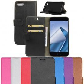 Siirrettävä lompakko 2-korttisilikonirunko Asus Zenfone 4 ZE554KL kannettava suojakotelo