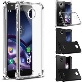 IMAK iskunkestävä silikonikotelo Motorola Moto Z2 Play matkapuhelimen kotelolle