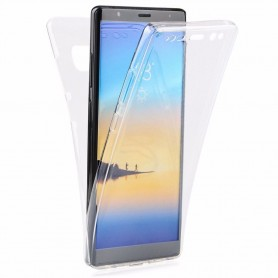 360-kokoinen silikonikotelo Samsung Galaxy Note 8 2 -kerroksinen kannettava kuori