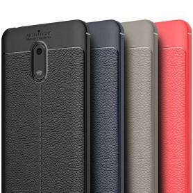 Nahkakuvioitu TPU-suoja Nokia 6 -puhelimen kansi