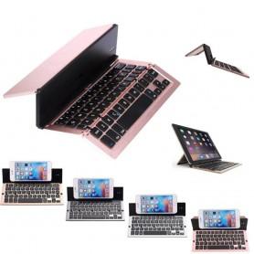 Alumiinista valmistettu Bluetooth-näppäimistö F18, täydellinen matkapuhelimille tai tablet-laitteille