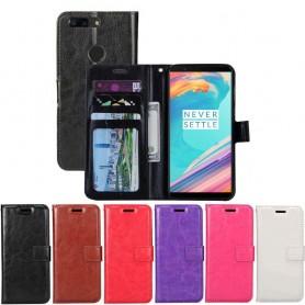 Siirrettävä lompakko 3-kortti OnePlus 5T -kotelon pesuplaan