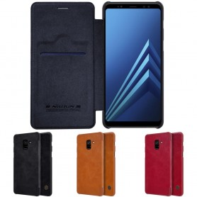 Nillkin Qin FlipCover Samsung Galaxy A8 Plus 2018 Galaxy kuori