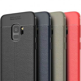 Nahkakuvioitu TPU-kuori Samsung Galaxy S9 SM-G960 kannettava suojakotelo
