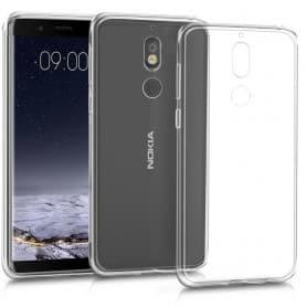 Nokia 7 silikonikotelo - läpinäkyvä matkapuhelimen kuori