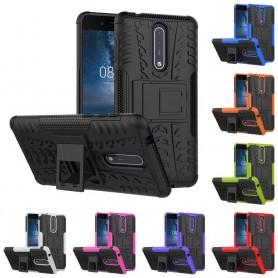 Iskunkestävä kuori jalustalla varustetulla Nokia 8 -kannettavalla