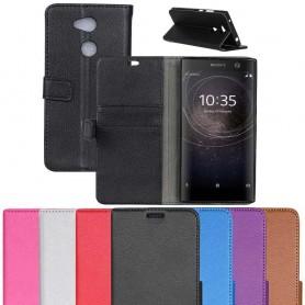 Kannettava lompakko 2-kortti Sony Xperia XA2 H4133 matkapuhelimen kotelo