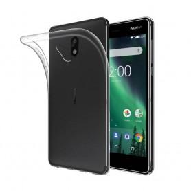 Nokia 2 silikonikotelo - läpinäkyvä matkapuhelimen kuori
