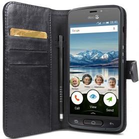 Doro Liberto 8040 lompakkokotelo, kannettava lompakkokotelo 2i1, magneettinen musta