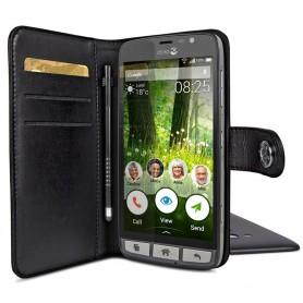 Doro Liberto 825 Wallet Case - Musta matkapuhelinlaukku