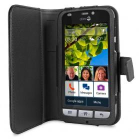 Doro Liberto 820 Book Case - Musta matkapuhelin suojakotelo