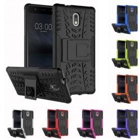 Iskunkestävä kuori jalustalla varustetulla Nokia 3 -puhelimella