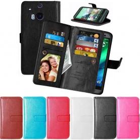 Kaksinkertainen läppä Flexi HTC ONE M8 kannettava kotelo mobiili kuori caseonline.se