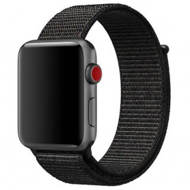 Apple Watch 38mm nailonrannekoru musta vaaleanpunainen CaseOnline.se