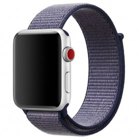 Apple Watch 42 mm nailonrannekoru Midnight sininen sarja 1 2 3