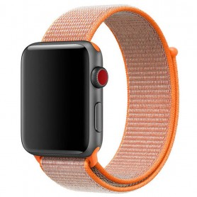 Apple Watch 42mm nailonrannekoru tarranauhaisella Spicy Orange rannekorulla