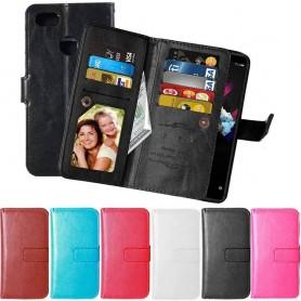 Kannettava lompakko Double Flipi Flexi Huawei Honor 7X kannettava kansi CaseOnline.se
